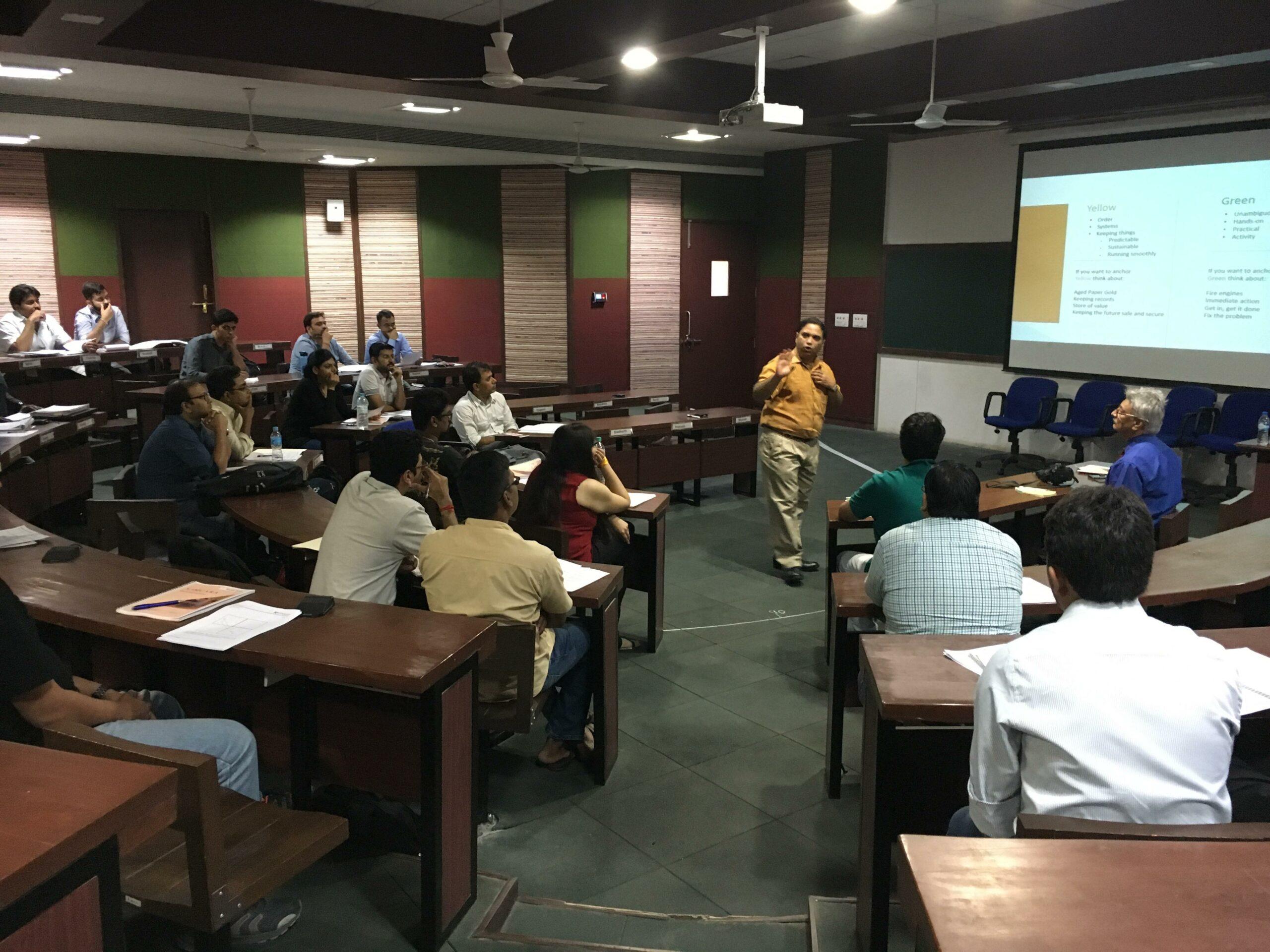Samcara takes Group sessions at IIM Indore